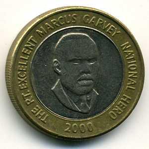 Jamaica 20 Dollar 2000